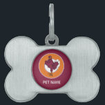 "Virginia Tech Hokie Bird Pet Tag<br><div class=""desc"">Do you want to show off your Virginia Tech pride? Check out these official Hokie designs where you can personalize your own Virginia Tech merchandise on Zazzle.com! These products are perfect for all VT students, alumni, staff, family, and fans. We have the perfect gear and design for your tailgate, party,...</div>"