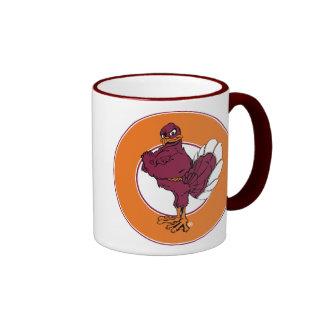 Virginia Tech Hokie Bird Ringer Coffee Mug