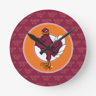 Virginia Tech Hokie Bird Round Clock