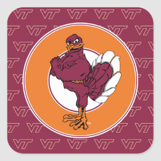 Virginia Tech Hokie Bird Square Sticker