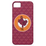 Virginia Tech Hokie with Orange Circle iPhone 5 Covers