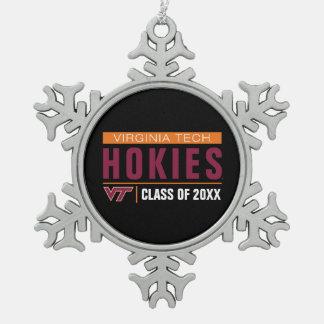 Virginia Tech Hokies Alumni Snowflake Pewter Christmas Ornament