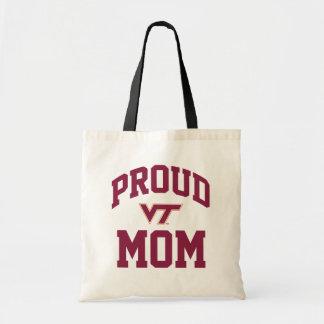 Virginia Tech Proud Mom Tote Bag