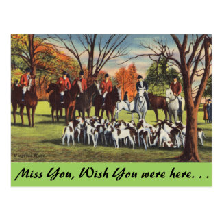 Virginia, The Hunt Postcard