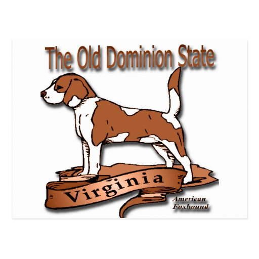 Virginia The Old Dominion State Dog Postcard
