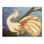 Virginia The White Peacock Postcard