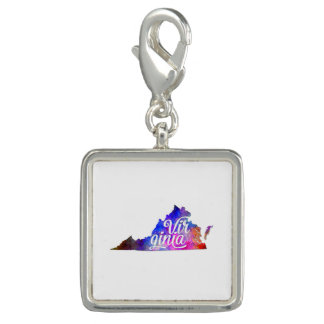 Virginia US State in watercolor text cut out Dijes Con Foto