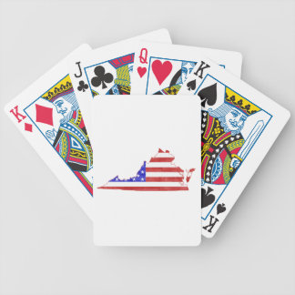 Virginia USA flag silhouette state map Bicycle Playing Cards