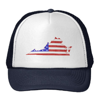 Virginia USA flag silhouette state map Trucker Hat