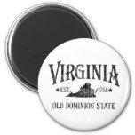 Virginia - viejo estado del dominio imán de frigorífico