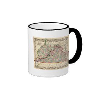 Virginia, W Virginia Map by Mitchell Ringer Mug
