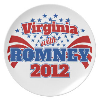 Virginia with Romney 2012 Dinner Plate