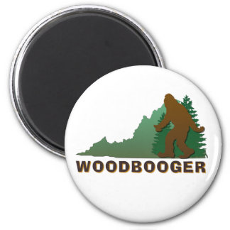 Virginia Woodbooger 2 Inch Round Magnet