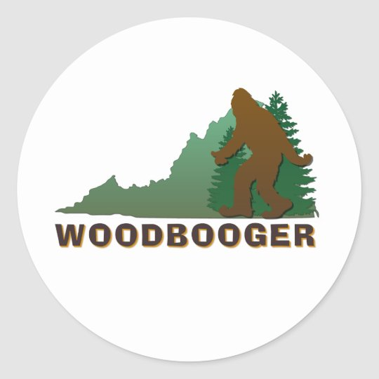 Virginia Woodbooger Classic Round Sticker