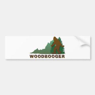 Virginia Woodbooger Etiqueta De Parachoque