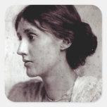 Virginia Woolf, 1902 Pegatina Cuadrada
