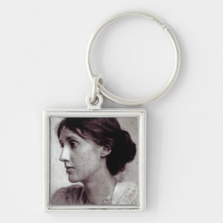 Virginia Woolf, 1902 Silver-Colored Square Keychain