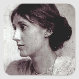 Virginia Woolf, 1902 Square Sticker