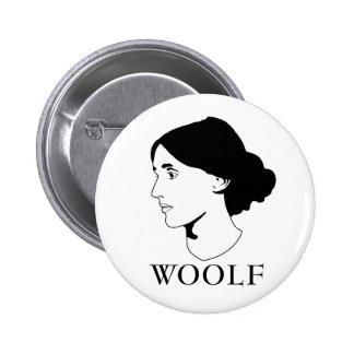 Virginia Woolf 2 Inch Round Button