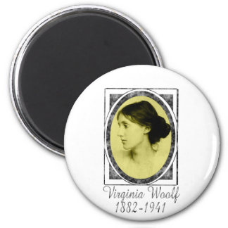 Virginia Woolf 2 Inch Round Magnet