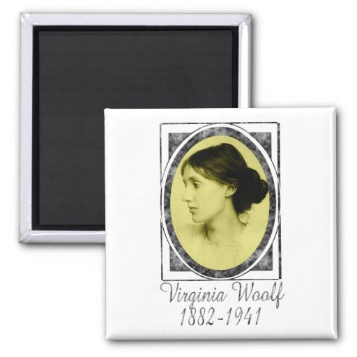 Virginia Woolf 2 Inch Square Magnet