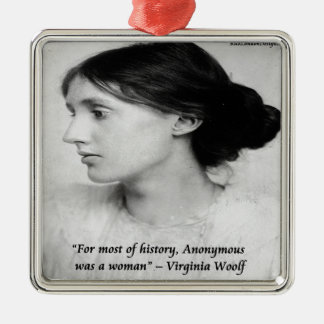 Virginia Woolf Anonymous Was A Woman Quote Ornament