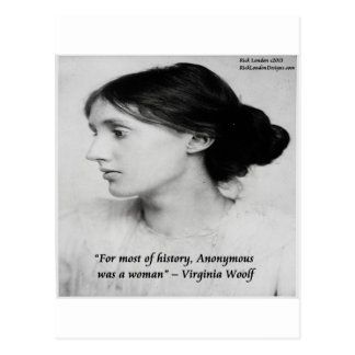 Virginia Woolf Anonymous Was A Woman Quote Post Card