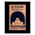Virginia Woolf  Book Cover A Room of One's Own Perfect Poster