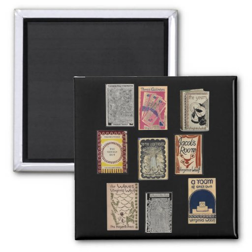 Virginia Woolf Books 2 Inch Square Magnet