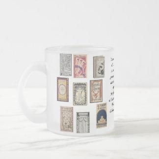 Virginia Woolf Books 10 Oz Frosted Glass Coffee Mug
