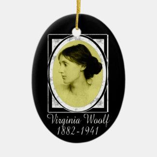 Virginia Woolf Ceramic Ornament