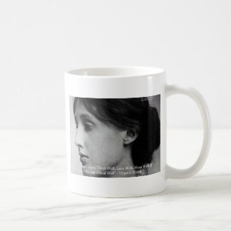 Virginia Woolf Dine/Love Well Love Quote Gifts Coffee Mug