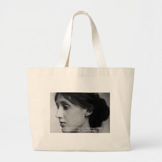 Virginia Woolf Dine/Love Well Love Quote Gifts Large Tote Bag