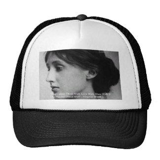 Virginia Woolf Dine/Love Well Love Quote Gifts Trucker Hat