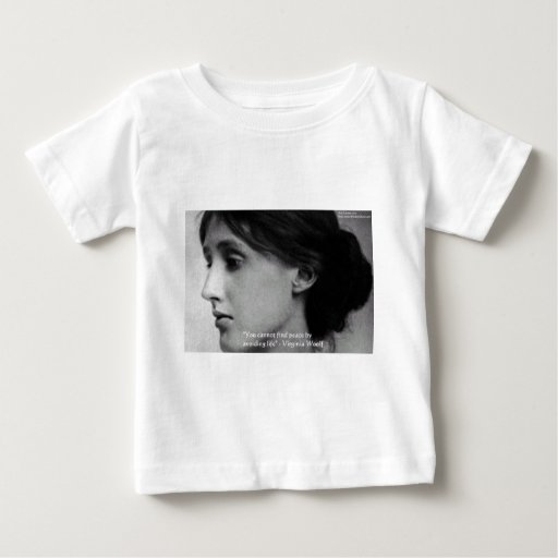 """Virginia Woolf """"Find Peace"""" Wisdom Quote Gifts Baby T-Shirt"""