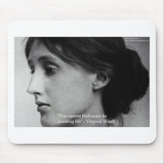 """Virginia Woolf """"Find Peace"""" Wisdom Quote Gifts Mouse Pad"""