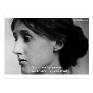 "Virginia Woolf ""Find Peace"" Wisdom Quote Gifts Postcard"