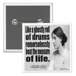 Virginia Woolf Ghostly Roll Quote Button