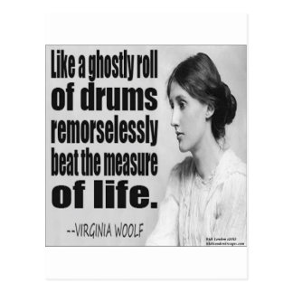 Virginia Woolf Ghostly Roll Quote Postcard