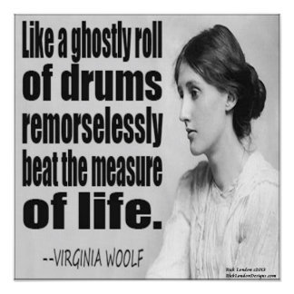 Virginia Woolf Ghostly Roll Quote Poster