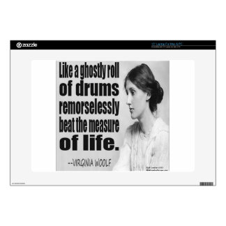 Virginia Woolf Ghostly Roll Quote Laptop Skins