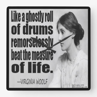 Virginia Woolf Ghostly Roll Quote Wall Clock