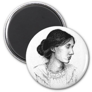 Virginia Woolf Ink Drawing Magnet