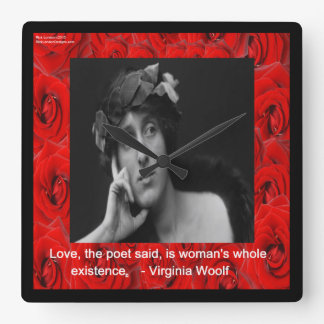 Virginia Woolf & Love Quote Wall Clock