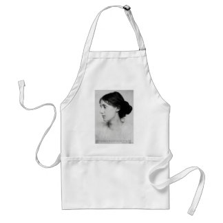 "Virginia Woolf ""Love Well"" Love Quote Mugs & Gifts Adult Apron"