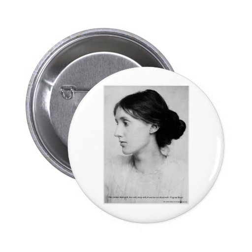 """Virginia Woolf """"Love Well"""" Love Quote Mugs & Gifts Pin"""
