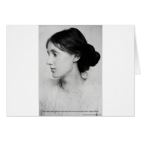 "Virginia Woolf ""Love Well"" Love Quote Mugs & Gifts Card"