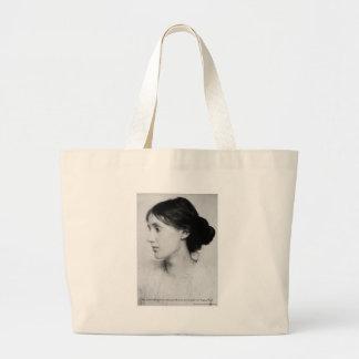 "Virginia Woolf ""Love Well"" Love Quote Mugs & Gifts Jumbo Tote Bag"
