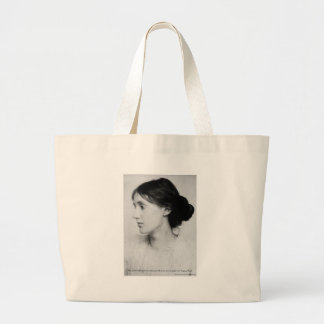 """Virginia Woolf """"Love Well"""" Love Quote Mugs & Gifts Large Tote Bag"""