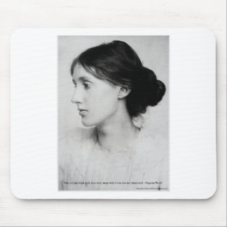 "Virginia Woolf ""Love Well"" Love Quote Mugs & Gifts Mouse Pad"
